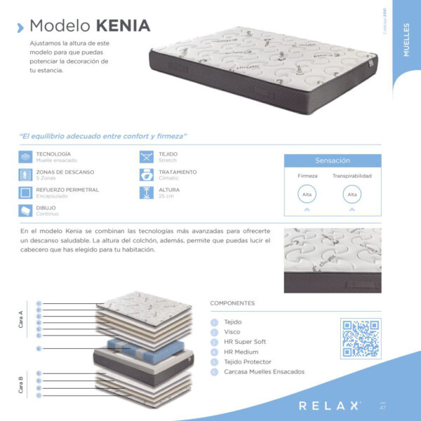 Colchon Kenia detalles